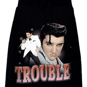 Elvis Presley Trouble Rockabilly Aline T-Shirt Skirt