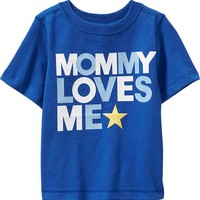 "Old Navy ""Mommy Loves Me"" Tees For Baby"