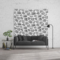 black mudcloth Wall Tapestry by Sylvia Cook Photography