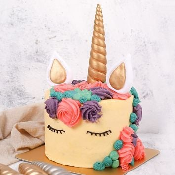 Unicorn Horn Birthday Cake Birthday Party Decorations Kids Gold Silver Unicorn Party Decor Wedding Birthday Party Supplies.Q