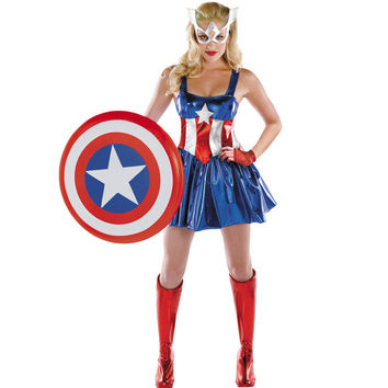 halloween costumes for women new captain america costume superwoman star wars cosplay uniform party dress performance fantasia