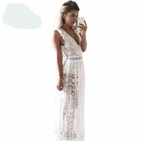 Women Spring High Waist Sleeveless Ba Maxi Long Dress