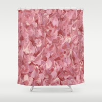 Rose Water Shower Curtain by Kat Mun