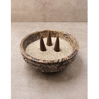 Stone Smudge and Incense Pot