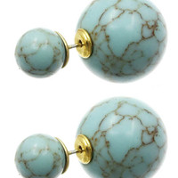 The Look Turquoise Double Earring Studs