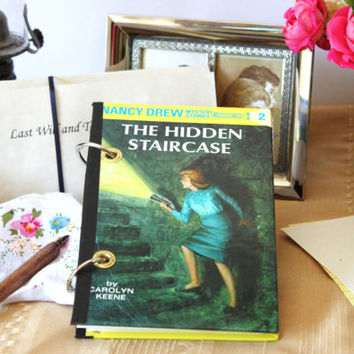 Nancy Drew Journal / Refillable Journal / The Hidden Staircase Journal / Nancy Drew Sketchbook / Blank Book Journal