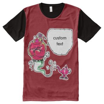 genie of the lamp with custom text All-Over print shirt
