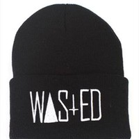 Black Wasted beanie hat from RVillage