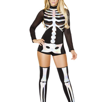 Roma Costume - 1pc Jackie Skeleton Women's Costume