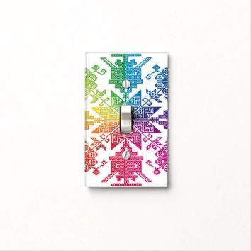 Aztec Light Switch Cover