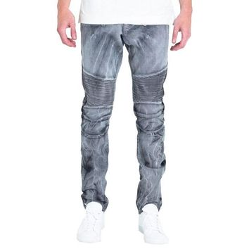 ONETOW Embellish NYC Emily Jeans In grey