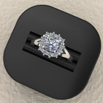Cushion Diamond Ring – designed by Elegant Jewelers