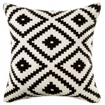 Aztec Pillow, Black and White Aztec Pillow Cover, Varies Size Pillow Cover, Tribal Pillow Cover, Throw & Toss Pillow, Sofa Pillow