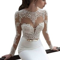 Nymph Dress Prom Dresses Formal Dresses Long Sleeve Lace Party Wedding Dresses WZ2098