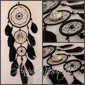Dreamcatcher Black Dream Catcher Large Dreamcatcher New Dream сatcher gift idea dreamcatcher boho dreamcatcher wall handmade idea gift Black