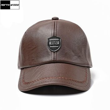 6a031bd0a89f4 Trendy Winter Jacket  NORTHWOOD  Solid Winter Leather Baseball C. Item  Type  Baseball Caps ...