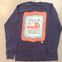 Long Sleeve Touch Downs & Tailgates- Comfort Colors