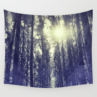 Sun through the forest Wall Tapestry by Guido Montañés