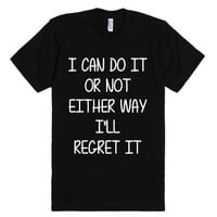 Either way-Unisex Black T-Shirt