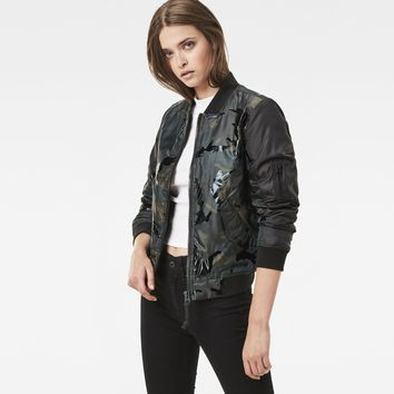Rackam Hybrid Deconstructed Cropped Bomber | G-Star RAW®