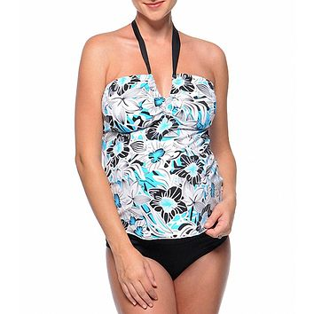 Prego Maternity Sea Breeze Retro Tankini Swimsuit Set