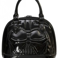 """Star Wars Darth Vader"" Patent Mini Dome Bag by Loungefly (Black)"