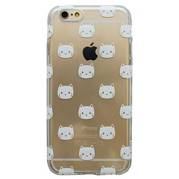 Clear White Cat Kitty Kitten Meow iPhone 6S/ 6 case
