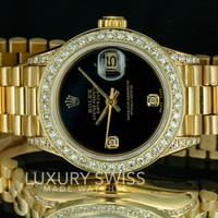 Rolex Lady Datejust 6917 18K Gold 26mm Diamond Dial Diamond Bezel - Pre-Owned