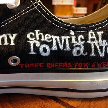 Hand painted 'My Chemical Romance' Converse