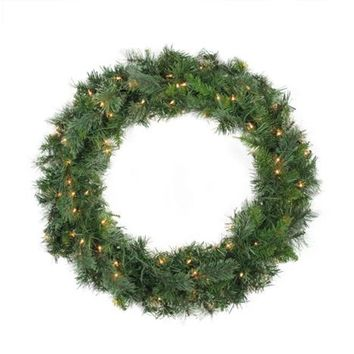 "48"" Pre-Lit Mixed Cashmere Pine Artificial Christmas Wreath - Clear Lights"