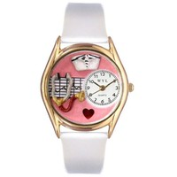 Whimsical Watches Women's C0610030 Classic Gold Nurse Red White Leather And Goldtone Watch