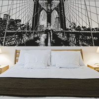 Vinyl Wall Decal Sticker Through the Brooklyn Bridge #OS_AA550