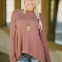 Only You Top (Mauve) - Piace Boutique