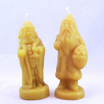 Beeswax Santa Candles Beeswax Santa Claus Candle Santa Claus Honey Scented Candle