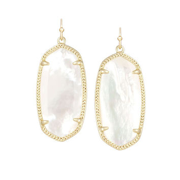 Kendra Scott Elle Ivory Pearl Earrings 14K Gold Plated