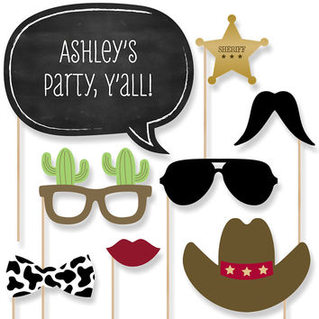 Baby Shower Photo Booth Props Kit - Little Cowboy