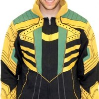 Marvel Comics Loki Adult Zip Up Costume Hoodie Sweatshirt