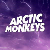 Arctic Monkeys Logo Crying Lightning Purple Art Print by Fligo