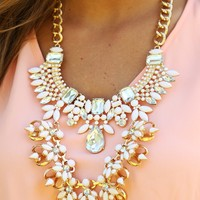 On A Silver Platter Necklace: Ivory/Gold