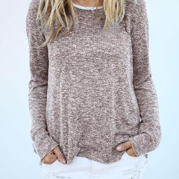 Casual Womens Long Sleeve Loose Pullover Shirt