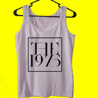 The 1975  tank top womens and mens,unisex adults standard fit cut and double stiched on neck and shoulders