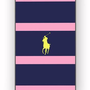 Polo Ralph Lauren Navy Blue Stripe for iPhone 4/4S Case *