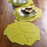 Dew Leaf Placemat in Green - Set of 4