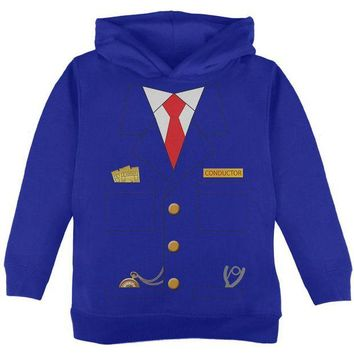 DCCKU3R Halloween Train Conductor Costume Toddler Hoodie