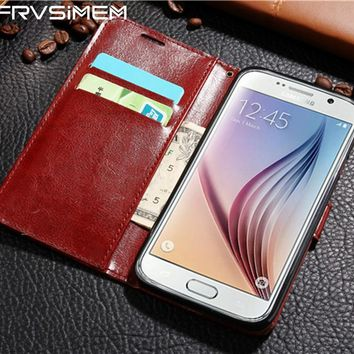 Flip Wallet Leather Case for Samsung Galaxy A3 A5 A7 2016 J3 J5 J7 2017 S3 S4 S5 S6 S7 edge S8 S9 Plus J2 Prime Cover