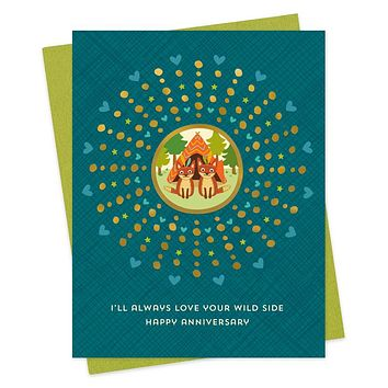 Wild Side Anniversary Card