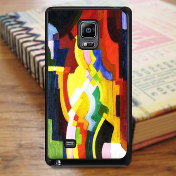 August Macke Abstract Cubist Painting Art Samsung Galaxy Note Edge Case