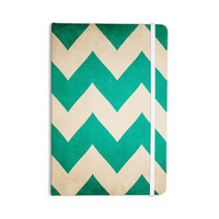"Catherine McDonald ""2013"" Teal Chevron Everything Notebook"