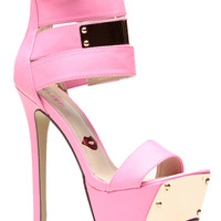 Pink Plated Eye Catcher Heels