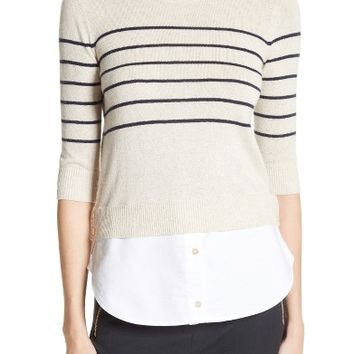 Veronica Beard Mariner Stripe Combo Sweater | Nordstrom